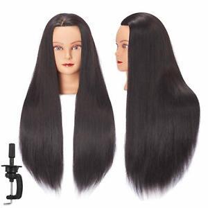 Cosmetology Mannequin Head 100% Human Hair Hairdresser Training Super Long 26-28