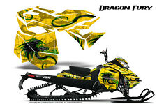 SKI-DOO REV XM SUMMIT SNOWMOBILE CREATORX GRAPHICS KIT DRAGON FURY GREEN YELLOW