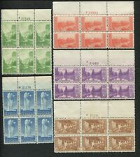 1934 US Postage Stamps #740-749 MNH VF National Parks Issue Plate Blocks of 6