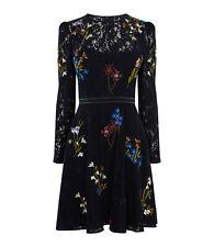 Karen Millen Embroidered Lace Dress, Navy, Size 6, BNWT
