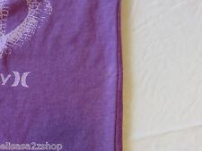 Hurley youth boy's medium kids t shirt surf skate Play loud neon purple SPOT****