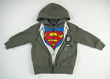 Superman Toddlers Zippered Hoodie Grey Size 2T