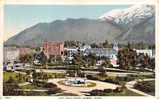 Ogden, Ut Utah City Hall Park Bird's Eye View c1920's Postcard