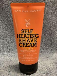 Van Der Hagen Self Heating Men's Shave Cream Heat+Opens Pores+Softens 6.0 oz.