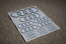 Audi Rings Car Vehicle Racing Boot Bonnet Emblem Logos Decal Stickers Grey