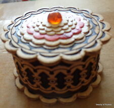 birch russian handmade box w/ amber  ##