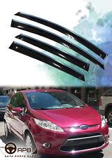 For Ford Fiesta 09-17 Chrome Trim Window Visor Guard Vent Deflector