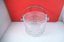 Lovely Teleflora Dripping Water Clear Glass Ice Bucket France