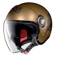 CASCO DEMI-JET NOLAN N21 VISOR MOTORRAD GP LEGEND -31 Rayado Flat Cobre TALLA M