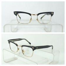 Vintage Browline Gold Plated Eyeglasses Frame