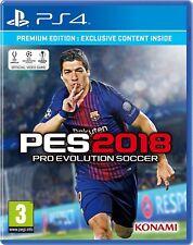 Pro Evolution Soccer (PES) 2018 - Premium Edition (PS4) New & Sealed