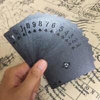 Plastic Poker Deck PVC Playing Cards Set Waterproof Black Classic Tricks Tool