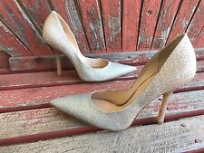 OMBre SPaRkLe 9.5 Silver Gold Point Toe CARRIE Stiletto Heel PUMP GuESS Metallic