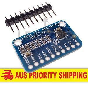 ADS1115 ADC 4 Channel 16Bit I2C PGA Low Power Arduino Raspberry Pi 2 ESP8266 PIC