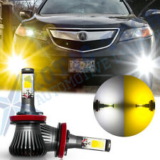 H8 H11 Switch White / Golden Yellow Dual-Color COB LED Fog Light Lamp Bulbs DRL