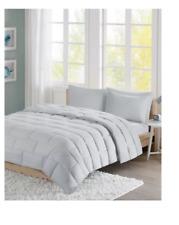 Intelligent Design Avery Tile Reversible 3PC Comforter Set - FULL / QUEEN - Grey