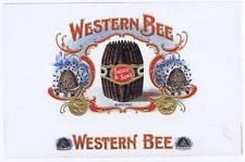 Western Bee, original inner cigar box label, Hive
