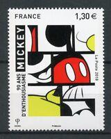 France 2018 MNH Mickey Mouse 90th Anniv 1v Set Disney Cartoons Art Stamps