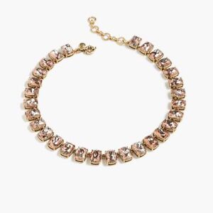 NWT J.CREW CRACKLED CRYSTAL NECKLACE, F3183, $118, PINK