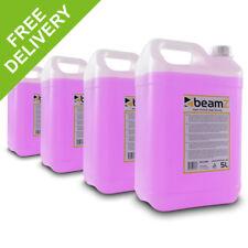 4x Beamz Haze Machine Fluid High Density 5 Litre Purple Liquid