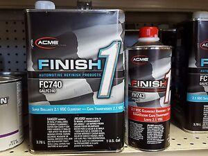 1 GALLON KIT Finish 1 Clear Coat  Finish1 FC740 and FH743