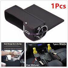 1x Leather Car Seat Gap Slit Pocket Catch Catcher Box Storage Organizer coin box