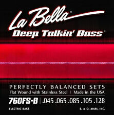 LA BELLA 760FS-B Deep Talkin' Flat Wound Bass Strings - Stnd. Gauge 5's, 45-128