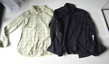 MEXX Lot of 2 Mens Casual/Dress Shirt XL Long Sleeves Black/Green