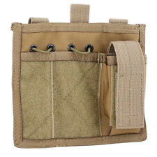 Bulldog MOLLE Tactical Military Army Admin Utility ID Patch Panel Pouch Coyote