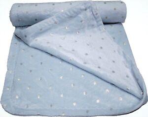 Soft plush fleece pram/moses basket/crib baby blanket - Baby Blue