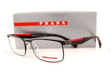 New Prada Sport Linea Rossa Eyeglass Frames PS 54FV DG0 MATTE BLACK Size 53