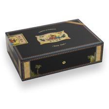 Cigar Humidor Elie Bleu Black Sycamore Holds 110 Cigars Alba Collection