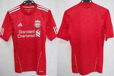 2010-2011 Liverpool FC Player Jersey Shirt Home Techfit Standard Chartered M