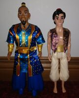 Disney 2 dolls Aladdin GENIE Doll and Aladdin 2018 Hasbro doll great shape