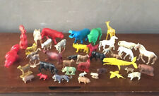 VTG Plastic Animal Toy Lot Farm Horses Woody Woodpecker Milro Walter Lantz 1957