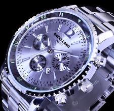 Excellanc Herren Armband Uhr Silber Farben Datumsanzeige Edelstahl SI-7