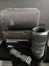 Sigma 105mm f/2.8 EX DG Macro OS Nikon AFD mount