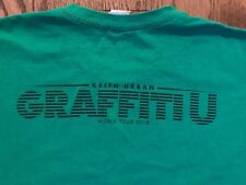 EUC Keith Urban Graffiti U World Tour 2018 Crew Green T-shirt XL - Country Music