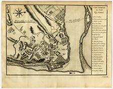 Antique Print-PLAN-QUEBEC-CANADA-Bellin-Schwabe-1758