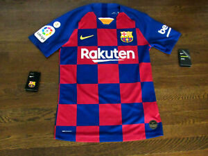 LIONEL MESSI BARCELONA NIKE VAPORKNIT HOME JERSEY PLAYER ISSUE SMALL NEW TAGS