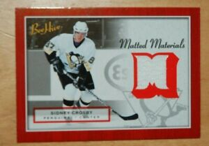 2005 BEEHIVE MATTED MATERIALS JERSEY SYDNEY CROSBY ROOKIE