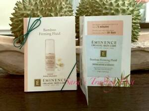 6 Eminence BAMBOO FIRMING FLUID Card Samples 2ml/.07oz each -Total 12ml Fresh