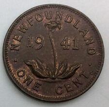 Newfoundland  1941 C One Cent  Lustrous Sharp Grade Example