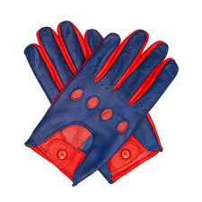 Leather Driving Riding Full-finger Gloves Unlined For Men and Women