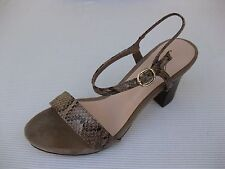 Azura Womens Shoes $120 NEW Avezzano Taupe Snake Sandal 38 7.5 8
