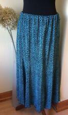 Forever de MichaelGold jupe noniron M/L W29-44 L33 stretchwaist Turquoise & Noir