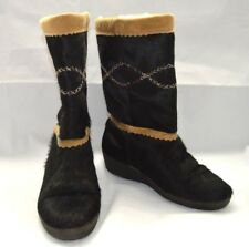 TECNICA WARM HAIR BOOTS BLACK WOMENS SIZE 37 LINING