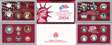 2004-S 11 Coin Silver Proof Set OGP W/COA Light Toning