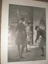 Legacy of Guy Fawkes Searching the vaults before Parliament opens 1901 print