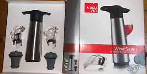 Vacu Vin Weinpumpe Weinverschluss Wine Saver Vakuumpumpe Set